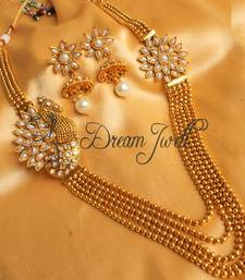 Buy BEAUTIFUL ANTIQUE PEARL PEACOCK MULTI LAYER NECKLACE SET necklace-set online