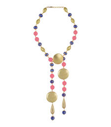 Buy Gold Color Mira Bead Necklace for Women party-jewellery online