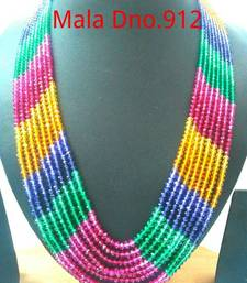 Buy stones mala 8 rows Necklace online
