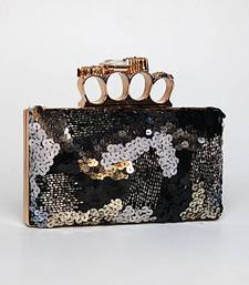 Buy Embroidered Black Box Clutch clutch online