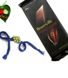 Buy Allusive AD Kundan Rakhi Big Chocolate Pack  rakhi-with-chocolate online