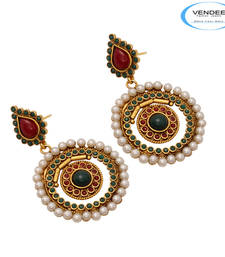 Buy Vendee Fashion Imitation Designer Copper Earrings (7125) Earring online