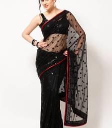 Buy Black Net Saree net-saree online