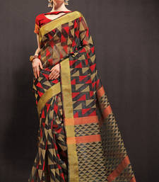 Buy black woven kota saree with blouse kota-saree online