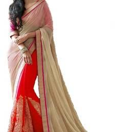 Buy New bollywood Red style latest partywear half half saree chiffon-saree online
