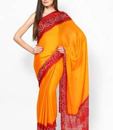 Buy Satin Crepe Traditional pIla Saree crepe-saree online