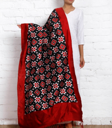 Buy TELIA RUMAL DOUBLE IKAT SILK DUPATTA stole-and-dupatta online