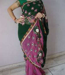 Double Coloured Saree shop online