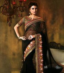 Buy Black Designer saree TRENDZ Women's Ethnic Wear diwali-sarees-collection online