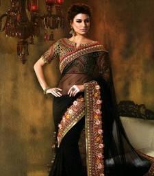 Buy Black Designer saree TRENDZ Women's Ethnic Wear - Diwali Gifts diwali-sarees-collection online