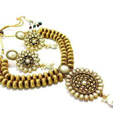 Buy 2 Layer Gold Pearl necklace-set online