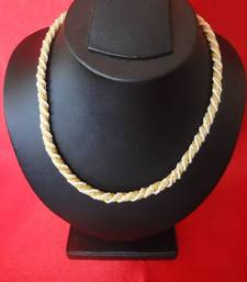 Buy Golden Chain with Pearl Beads Necklace online