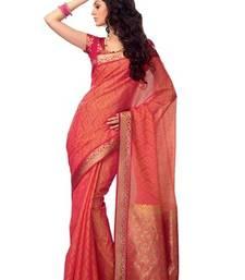 Buy Orange Colour Zari Weaved Cotsilk Saree with Heavy Pallu - SR2654 silk-saree online