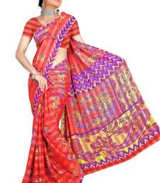 Buy Printed satin Saree printed-saree online