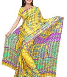Buy lovely satin patti printed-saree online