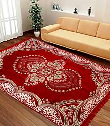 Buy Red Chenille Carpet Traditional carpet online