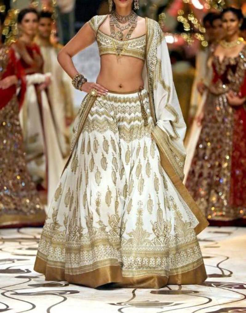 Buy Sonam Kapoor Off White Amp Gold Classy Lehenga Online