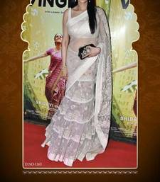 Buy Sridevi Cream Lehenga Saree with Frill & Heavy Embroidery sridevi-saree online