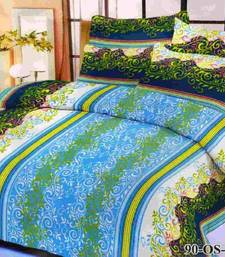 Buy Aria 100% cotton double bed printed bedsheet  80491 bed-sheet online