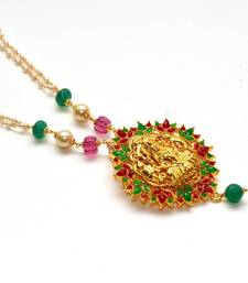 Buy Anvi's lakshmi pendent with small pearls chain Necklace online