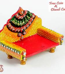 Buy Miniature hand painted chowki with kundans work - Diwali Gifts & Offers diwali-decoration online