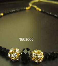 Black crystal necklace   shop online