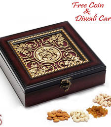 Ganapati Wooden Dry fruit Box for Diwali shop online
