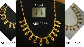 Unique nagapadam necklace set
