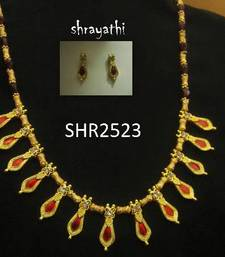Unique nagapadam necklace set   shop online