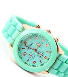 Buy Sea Green Geneva Watch watch online