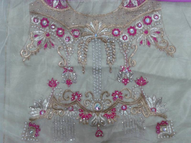 Buy Pink With Embroidery Jari Work Online