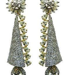 Buy Vatika attractive white american diamond earring danglers-drop online
