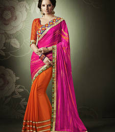 Buy Magenta Chiffon  Designer saree party-wear-saree online