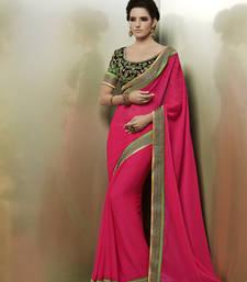 Buy Heavy Brodered Chiffon Designer Saree karwa-chauth-saree online