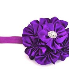 Buy Deep Purple 7 flower  baby hairband hair-accessory online