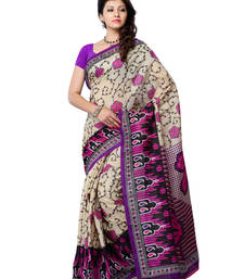Buy Beige And Pink Color Art Silk Party Wear Fancy Saree art-silk-saree online