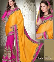 Buy party wear cutpatch art silk saree. art-silk-saree online