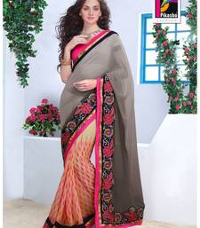 Buy Party Wear Cutpatch Art silk Saree art-silk-saree online