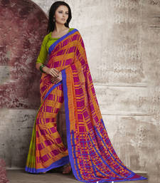 Buy Trendy Multi Color Georgette Saree georgette-saree online