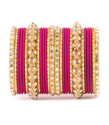 Buy Golden Bracelet and Matte Finish Bangle Set for Women bangles-and-bracelet online