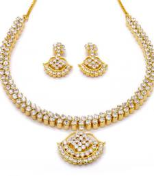 Buy BELL NECKLACE SET WITH EARRINGS (AD) - necklace-set online