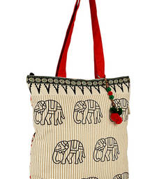 Buy Accrue tote with elephant motiff. Bag online