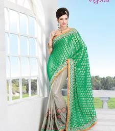 Buy Fancy Heavy Embroidery saree half-saree online