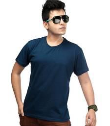 Buy Casual Tee : Airforce Blue men-tshirt online