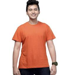Buy Casual Tee : Rust Orange men-tshirt online
