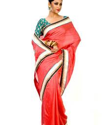 Buy Bengal sequins work saree without blouse organza-saree online