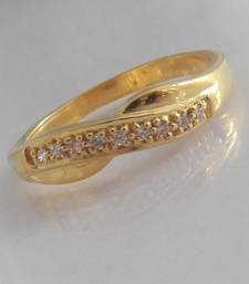 Buy 925 gold plated ring engagement-ring online