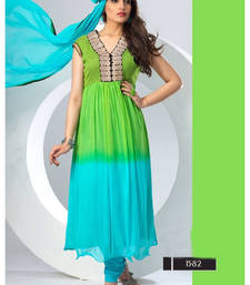 Latest Green And Blue Anarkali Suit shop online