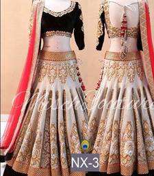Buy Multicolor embroidered silk semi stitched lehenga choli bollywood-lehenga online