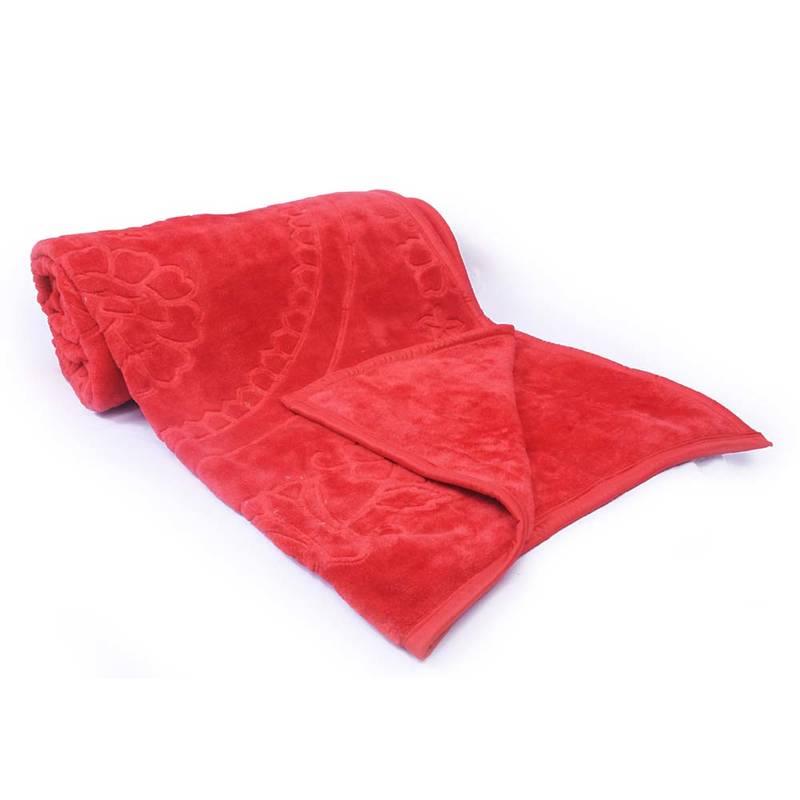 Buy Stylish Floral Design Embossed Single Bed Blanket Online